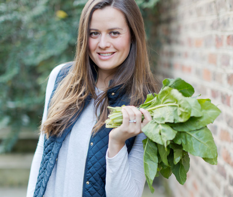 antonia holding leaves